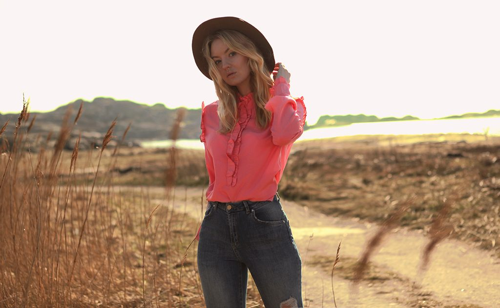 Bohemian blouse in pink