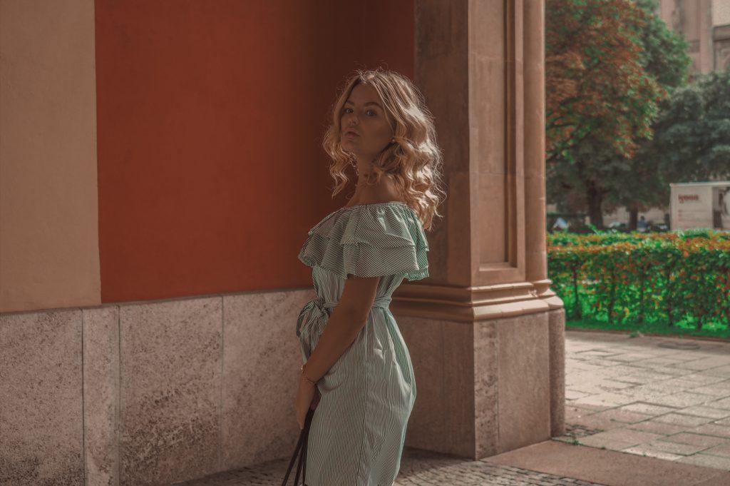 Green Dress Fbyelin